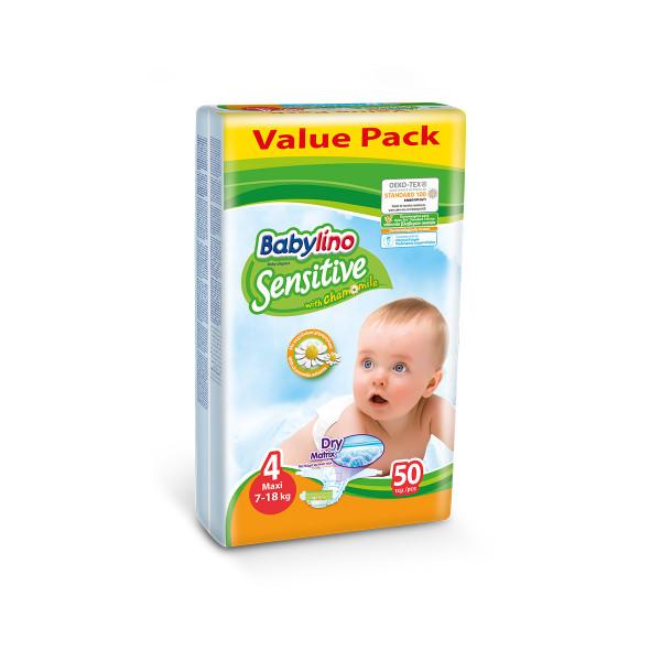 Babylino sensitive pelene value pack MAXI 4, 50kom