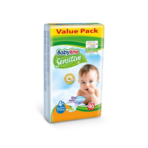 Babylino sensitive pelene value pack MAXI PLUS 4+, 46kom