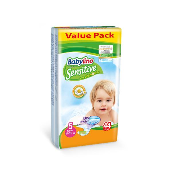 Babylino sensitive pelene value pack JUNIOR 5, 44kom