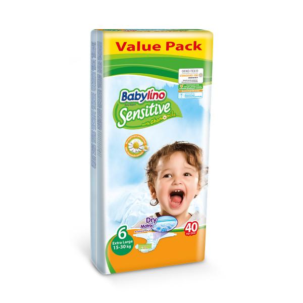 Babylino sensitive pelene value pack EXTRA LARGE 6, 40kom