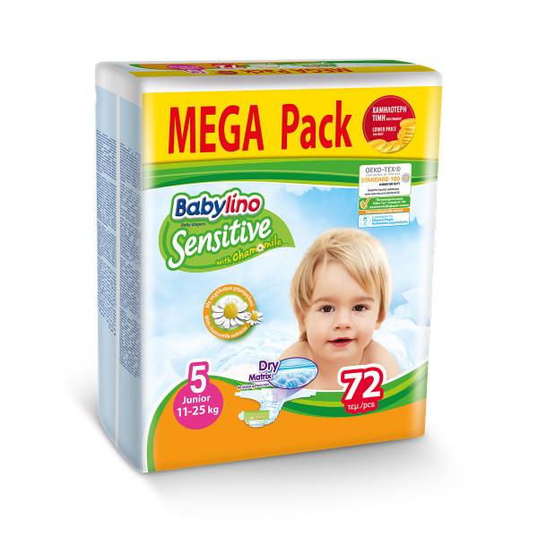 Babylino sensitive pelene value pack JUNIOR 5, 72kom