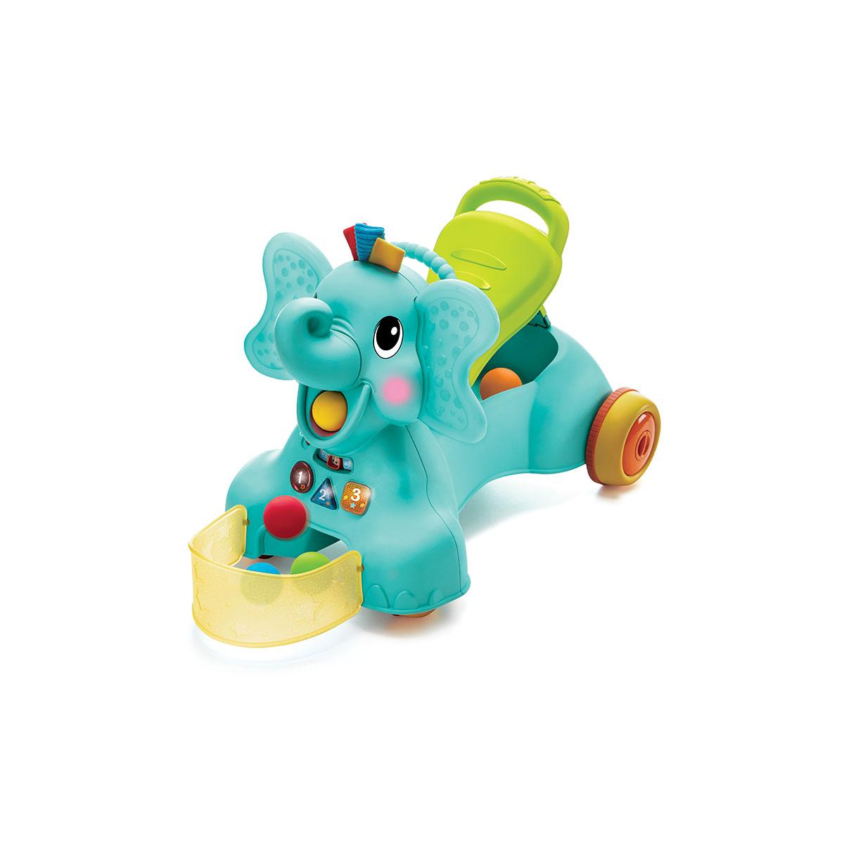B kids igračka za prohodavanje 3u1 slon