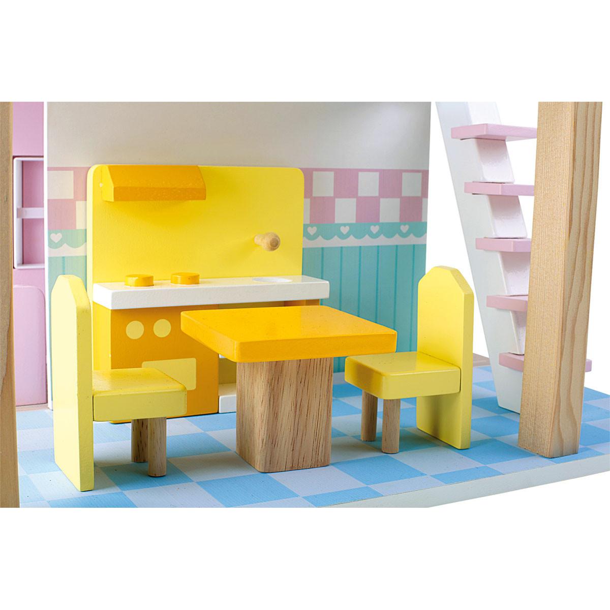 Small foot drvena kućica za lutke