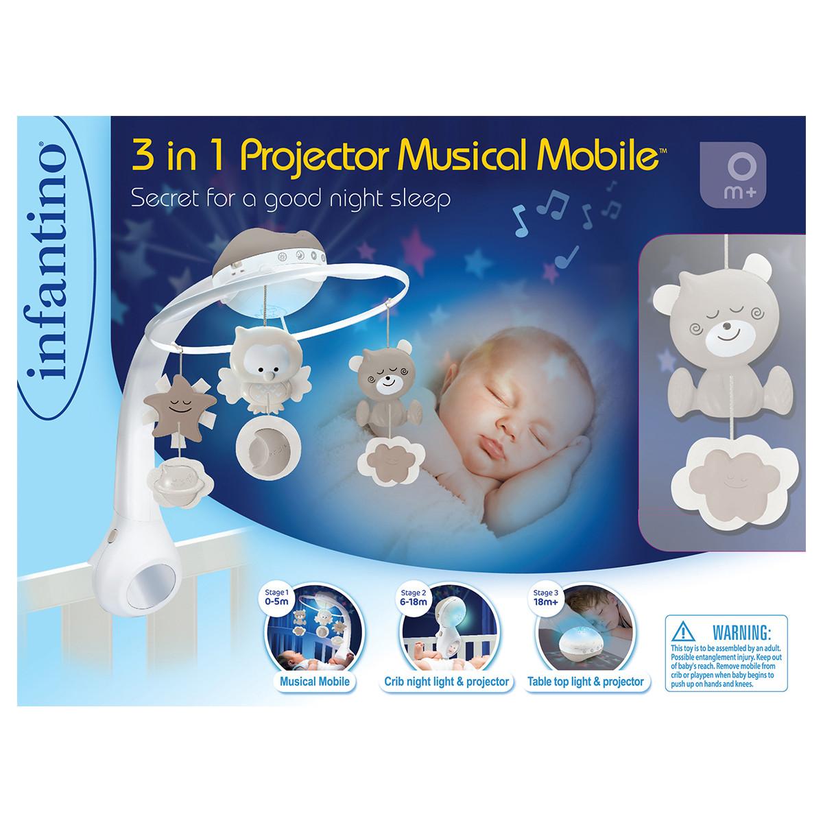 Infantino 3u1 muzička vrteška, projektor i noćno svetlo