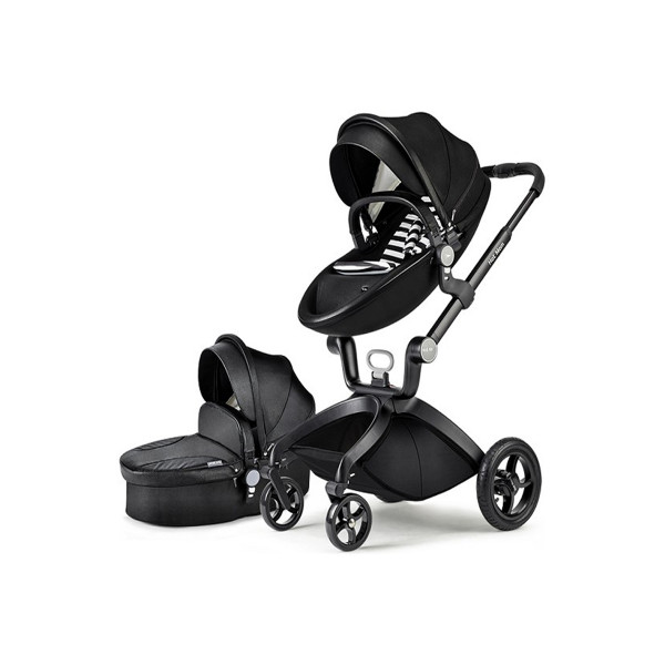 Hot mom kolica 2u1, black,0m+