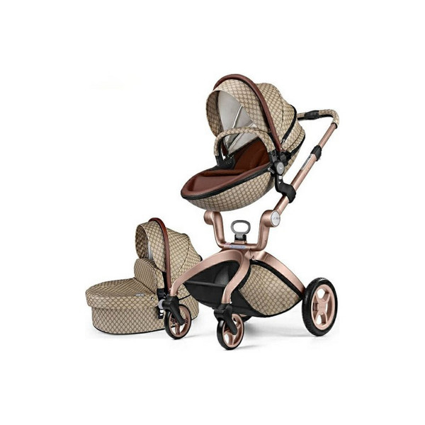 Hot mom kolica 2u1, brown, 0m+