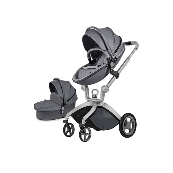 Hot mom kolica 2u1, dark gray, 0m+
