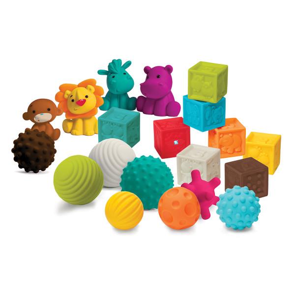 Infantino Sensory lopte, kocke i drugari