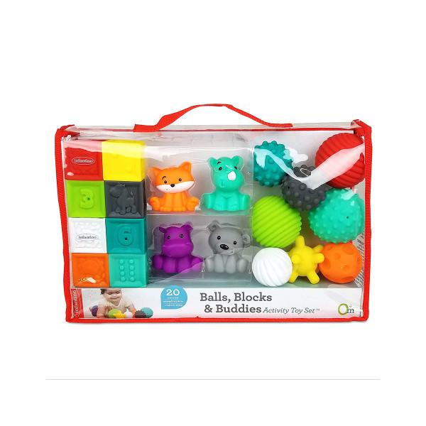 Infantino set gumenih drugara, loptica i kockica