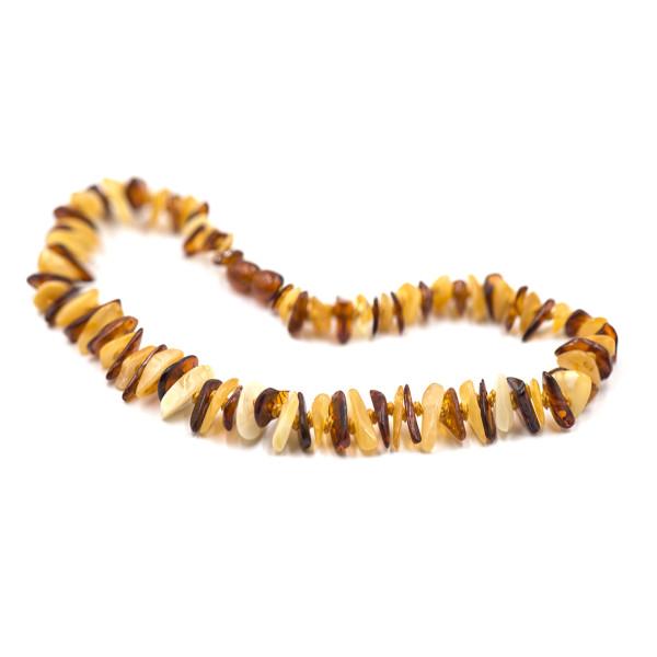 Baby line ogrlica Chips Konjak/Bela