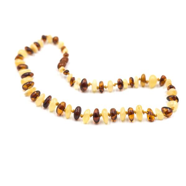 Baby line ogrlica Baroque Konjak/Bela
