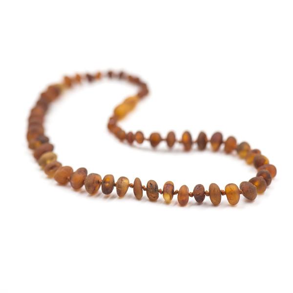 Baby line ogrlica Baroque Mat Konjak
