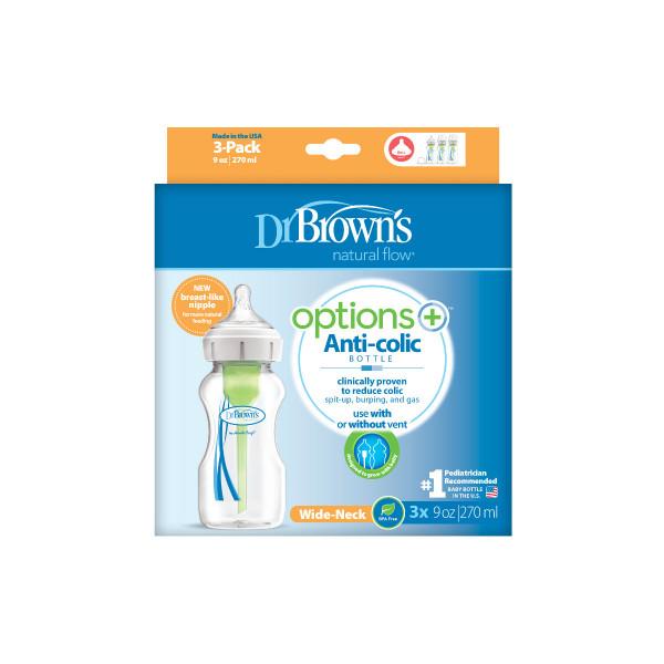Dr Browns plastična OPTIONS   + bočica 270ml,3/1